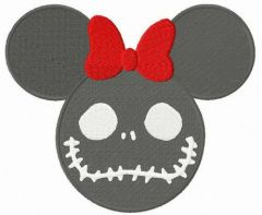Minnie Mouse Halloween horror embroidery design