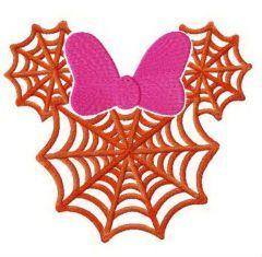 Minnie web silhouette embroidery design
