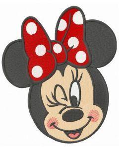 Minnie winks embroidery design