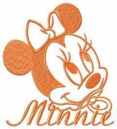 Minnie with dummy embroidery design
