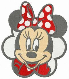 Minnie's first date embroidery design