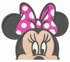 Minnie is hiding embroidery design