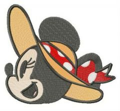 Minnie's straw hat embroidery design