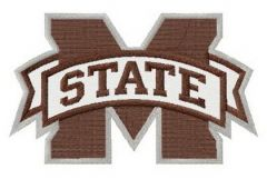 Mississippi State Bulldogs logo embroidery design