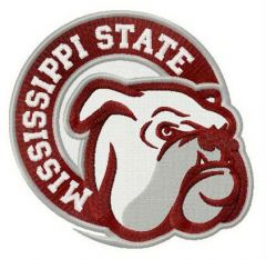 Mississippi State Bully embroidery design