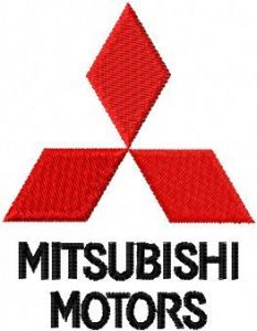 Mitsubishi Motors embroidery design
