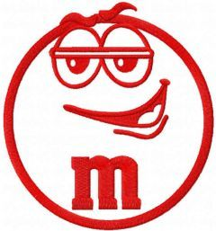 MM Murrie red embroidery design