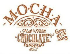 Mocha recipe embroidery design