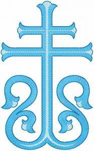 Modern cross embroidery design
