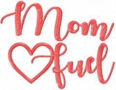 Mom fuel free embroidery design 2