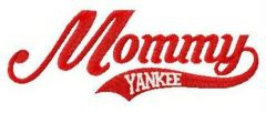 Mommy yankee embroidery design