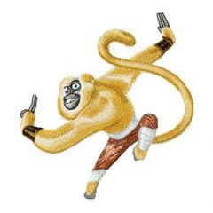 Master Monkey embroidery design