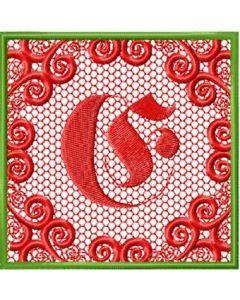 Monogram letter E style 1 embroidery design