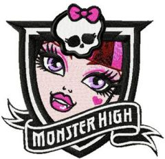 Monster High Draculaura embroidery design