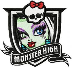 Monster High Frankie Stein embroidery design