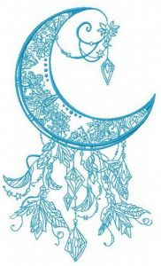 Moon 2 embroidery design