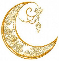 Moon 3 embroidery design