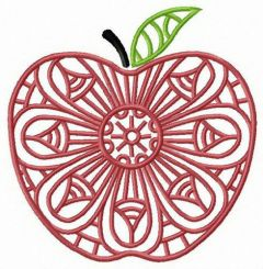 Mosaic apple 3 embroidery design