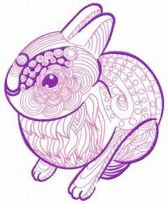 Mosaic bunny 2 embroidery design