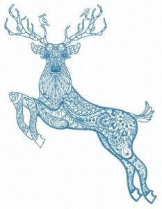 Mosaic deer 4 embroidery design
