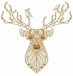 Mosaic deer 5 embroidery design