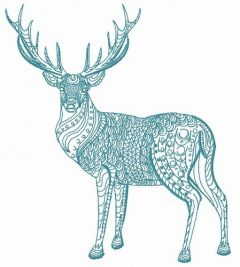Mosaic deer 6 embroidery design