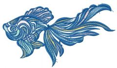 Mosaic fish 6 embroidery design