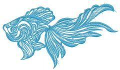 Mosaic fish 8 embroidery design