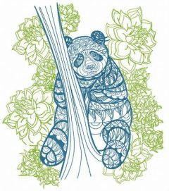 Mosaic panda 2 embroidery design