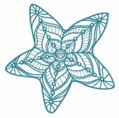 Mosaic star 2 embroidery design