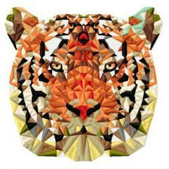Mosaic tiger 5 embroidery design