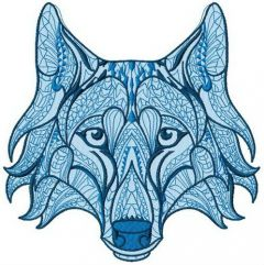Mosaic wolf 2 embroidery design