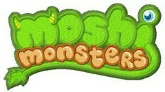 Moshi monsters logo embroidery design