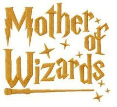 Mother of Wizards embroidery design