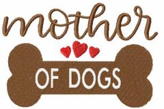 Mother of dogs embroidery design