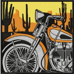 Retro Vintage Moto Racing label machine embroidery design