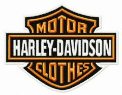 Motor clothes logo embroidery design
