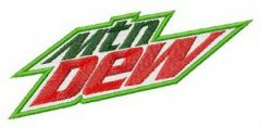 Mountain Dew logo embroidery design