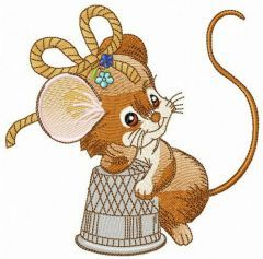 Mouse the tailor embroidery design