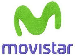 Movistar logo embroidery design