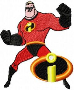Mr. Incredible 3 embroidery design