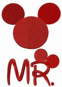 Mr. Mouse embroidery design