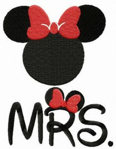 Mrs. Mouse embroidery design