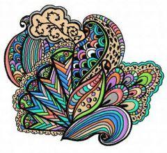 Multicolor decoration embroidery design