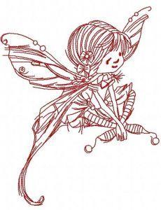 Mushroom fairy 4 embroidery design