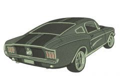 Mustang car 2 embroidery design