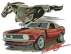 Mustang car 3 embroidery design