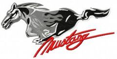 Mustang logo 5 embroidery design