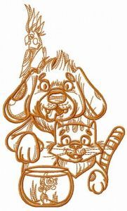 My beloved pets embroidery design
