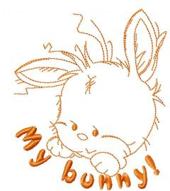 My bunny embroidery design